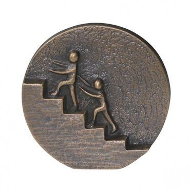 Wandrelief Gemeinsam nach oben 8 cm Bronze