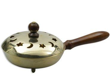 Weihrauchpfanne Messing Holzgriff 24 cm Weihrauch