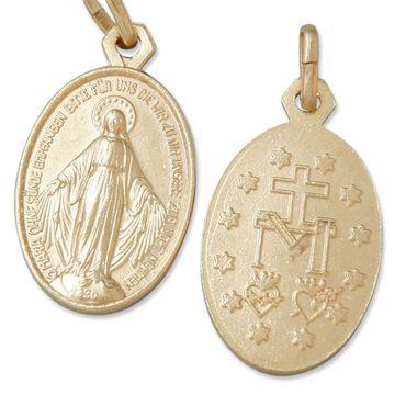 Wunderbare Wundertätige Medaille goldfarben 1,9 cm