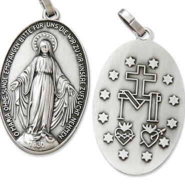 Wunderbare Wundertätige Medaille silber 3,7 cm