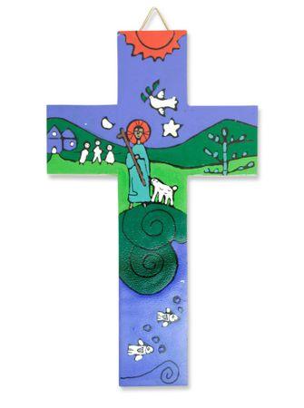 Kreuz für Kinder Der Gute Hirt El Salvador Holz-Kreuz