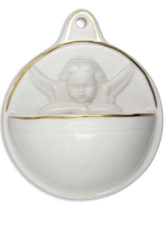 Weihwasserkessel Engel Porzellan 10 cm
