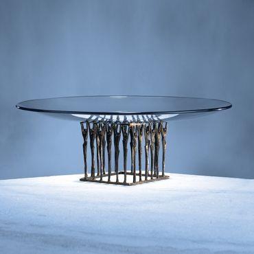 Glasschale Zusammen Ø 42 cm / Skulpturen 11 x 11 cm