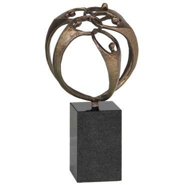 Skulptur Der Zusammenhalt 20 cm Granitsockel