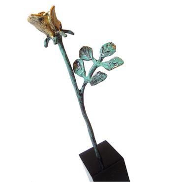 Skulptur Dank für ihren Einsatz vergoldet 13 cm