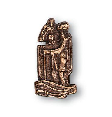 Christophorus Autoplakette selbstklebend 4 cm Bronze