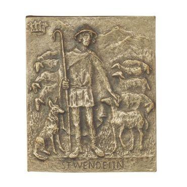 Wendelin Namenspatron-Bronzerelief (13 cm)