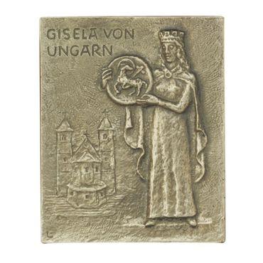 Gisela Namenspatron-Bronzerelief (13 cm)
