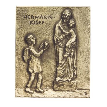 Hermann Josef Namenspatron-Bronzerelief (13 cm)