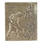 Adam Namenspatron-Bronzerelief (13 cm) 001