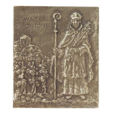 Walter Namenspatron-Bronzerelief (13 cm)