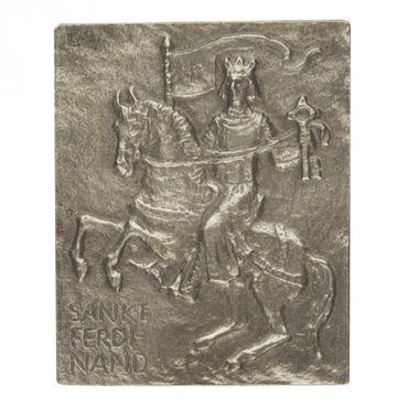 Ferdinand Namenspatron-Bronzerelief (13 cm)