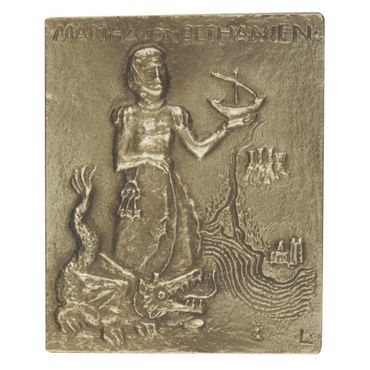 Martha Namenspatron-Bronzerelief (13 cm)