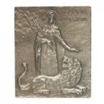 Martina Namenspatron-Bronzerelief (13 cm)