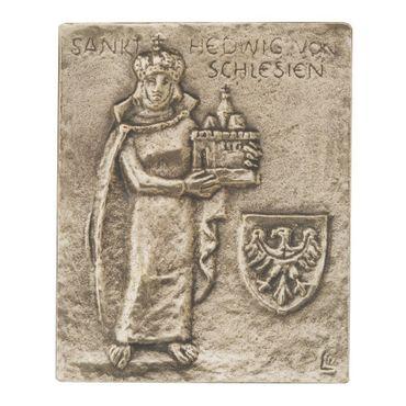 Hedwig von Schlesien Namenspatron-Bronzerelief (13 cm)