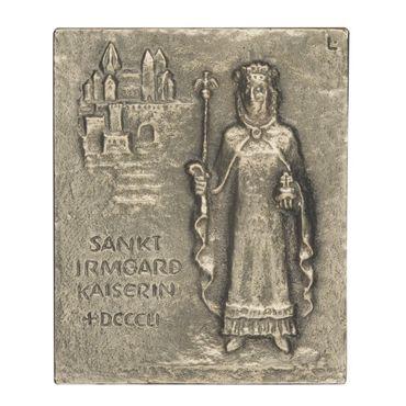 Irmgard Namenspatron-Bronzerelief (13 cm)