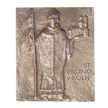 Bruno von Köln Namenspatron-Bronzerelief (13 cm)