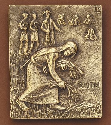 Ruth Namenspatron-Bronzerelief (13 cm)