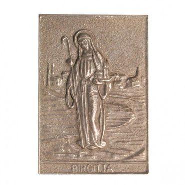 Birgitta Namenspatron-Bronzerelief (8 cm)