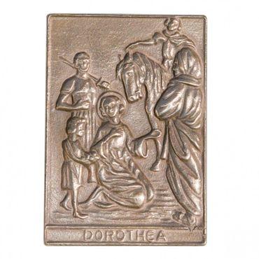 Dorothea Namenspatron-Bronzerelief (8 cm)