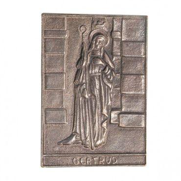 Gertrud Namenspatron-Bronzerelief (8 cm)
