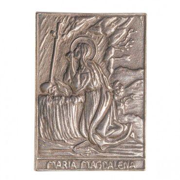 Magdalena Namenspatron-Bronzerelief (8 cm)