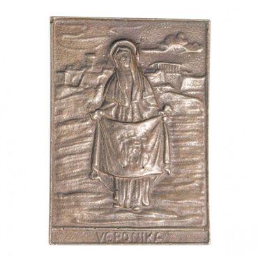 Veronika Namenspatron-Bronzerelief (8 cm)