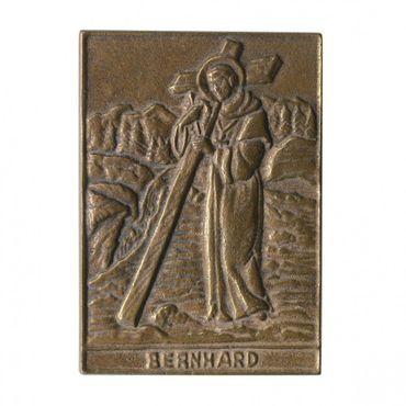 Bernhard Namenspatron-Bronzerelief (8 cm)