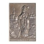 Gottfried Namenspatron-Bronzerelief (8 cm) 001