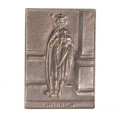 Heinrich Namenspatron-Bronzerelief (8 cm)