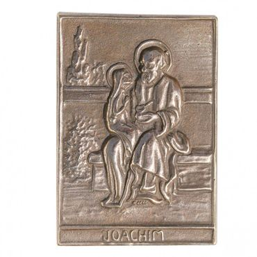 Joachim Namenspatron-Bronzerelief (8 cm)