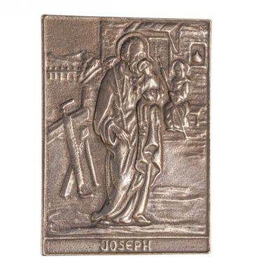 Josef Namenspatron-Bronzerelief (8 cm)