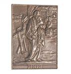 Josef Namenspatron-Bronzerelief (8 cm) 001