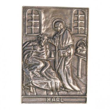 Karl Namenspatron-Bronzerelief (8 cm)