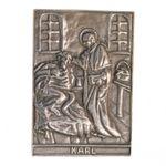 Karl Namenspatron-Bronzerelief (8 cm) 001