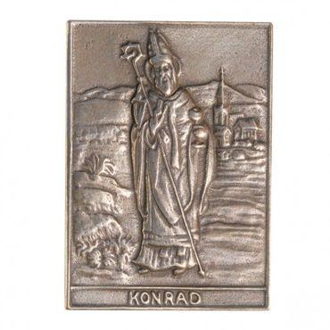 Konrad Namenspatron-Bronzerelief (8 cm)