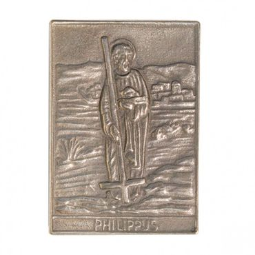 Philippus Namenspatron-Bronzerelief (8 cm)