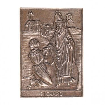 Richard Namenspatron-Bronzerelief (8 cm)
