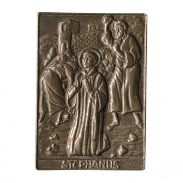 Stephanus Namenspatron-Bronzerelief (8 cm)