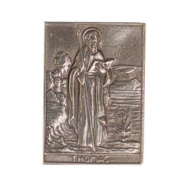 Thomas Namenspatron-Bronzerelief (8 cm)