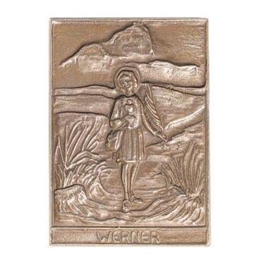 Werner Namenspatron-Bronzerelief (8 cm)