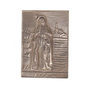 Angela Namenspatron-Bronzerelief (8 cm)