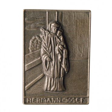 Hermann-Josef Namenspatron-Bronzerelief (8 cm)