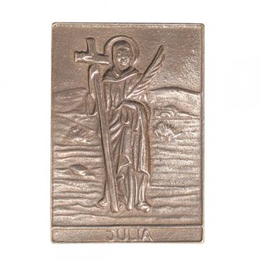 Julia Namenspatron-Bronzerelief (8 cm)