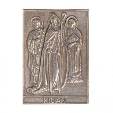 Kilian Namenspatron-Bronzerelief (8 cm)