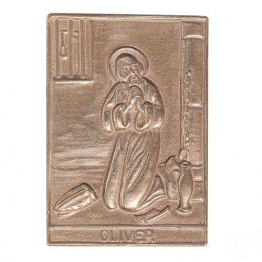 Oliver Namenspatron-Bronzerelief (8 cm)