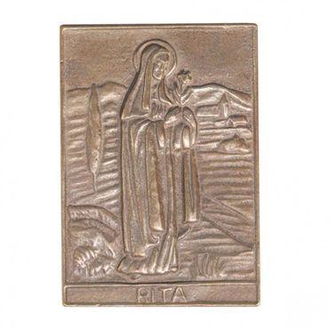 Rita Namenspatron-Bronzerelief (8 cm)