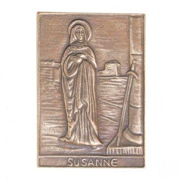 Susanne Namenspatron-Bronzerelief (8 cm)