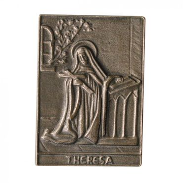 Theresa Namenspatron-Bronzerelief (8 cm)