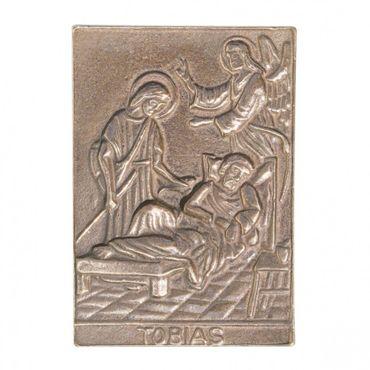 Tobias Namenspatron-Bronzerelief (8 cm)